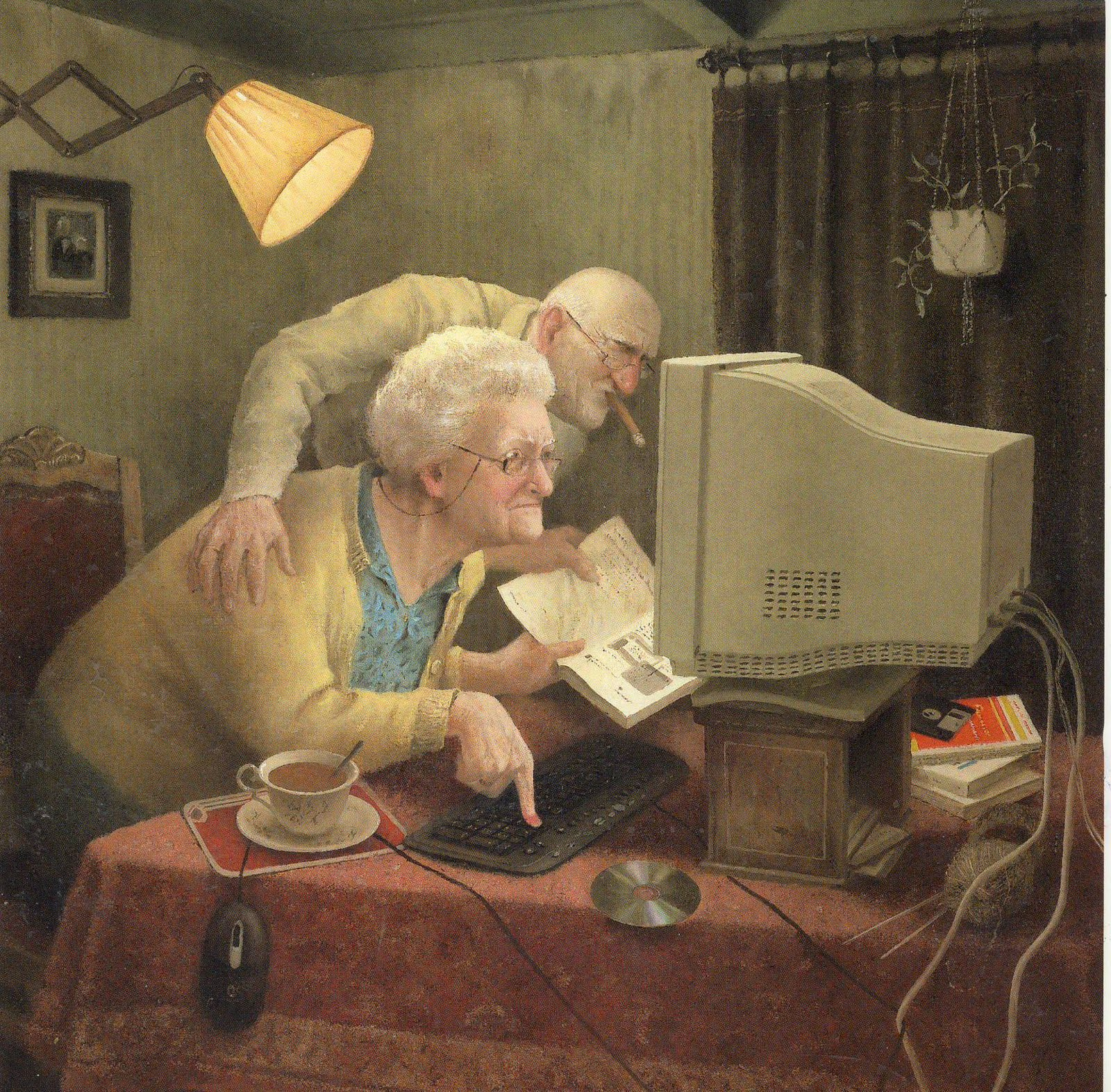 Image of: Faces Oldage Bittersweetness With Splash Of Humor The Surprising Paintings Of Marius Van Dokkum Passepartout Bianca Olivia Nita Oldage Bittersweetness With Splash Of Humor The Surprising