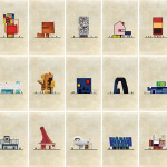 Federico Babina's illustrations: what if some of the most famous art would mix with architecture?