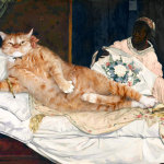 The kitsch update: Zarathustra – the obese cat – improving some famous paintings
