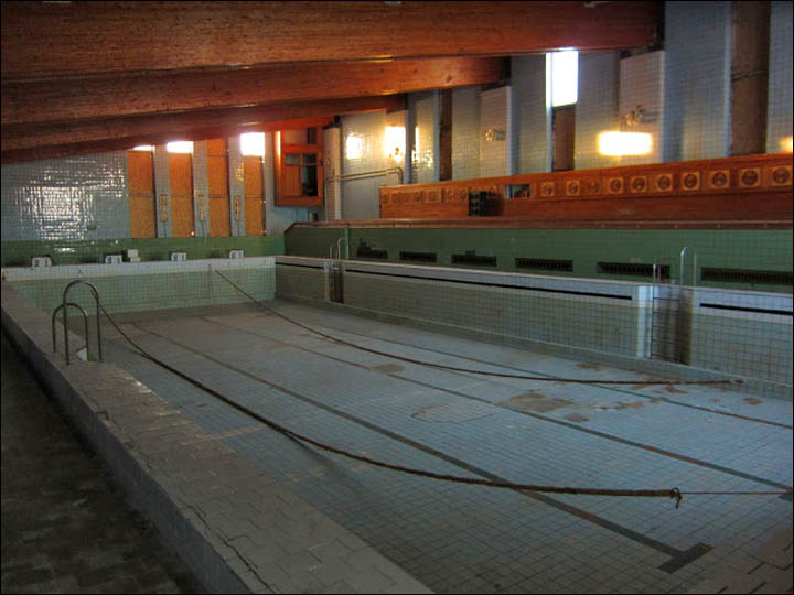 inside the pool