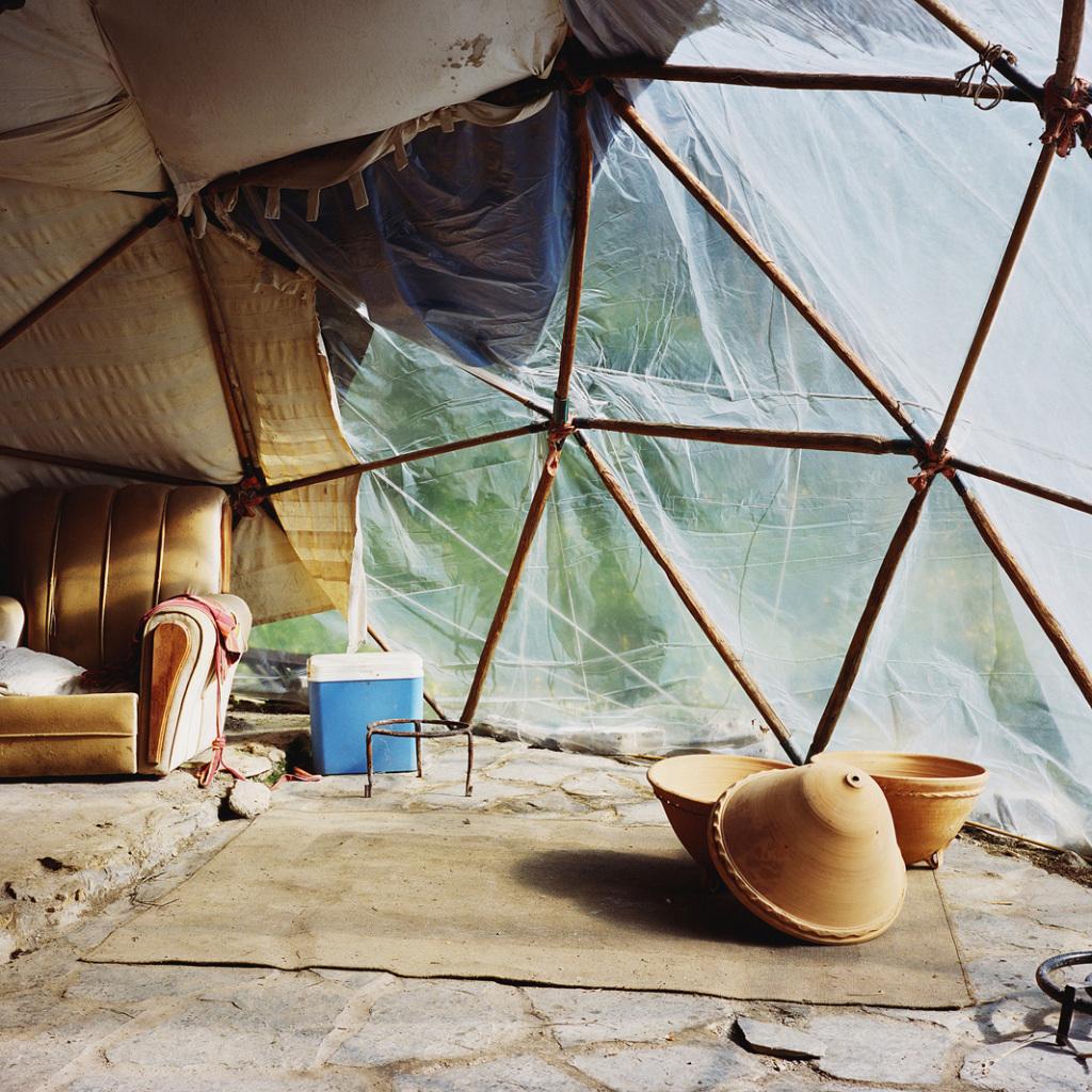 nside a geodesic dome, Sierra del Hacho, Spain, 2013.