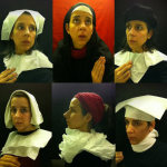 Seat Assignment – 15th century Flemish style portraits taken in plane lavatory