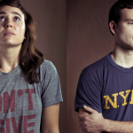 Irreversible goodbyes: photos of people wearing the t-shirts of lost lovers